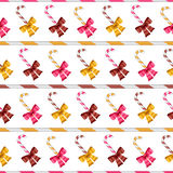 Valentine vector seamless pattern of glossy bows Stock Photography