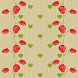 Valentine Vector Seamless Pattern With Tulips Stock Photos
