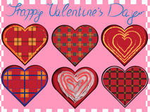 Valentine vector set royalty free stock photos
