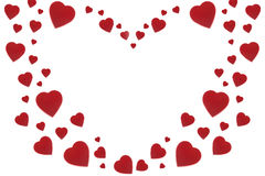 Valentine Velvet Heart Background Royalty Free Stock Images