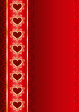 Valentine vertical background with a ribbon Royalty Free Stock Photography