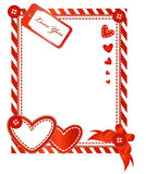 Valentine vertical card Royalty Free Stock Images