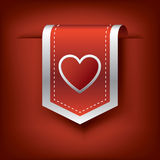 Valentine vertical ribbon or bookmark element for Stock Photos