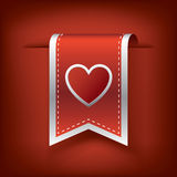 Valentine vertical ribbon or bookmark element for Royalty Free Stock Image