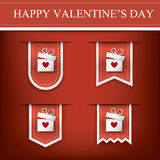 Valentine vertical ribbon or bookmark element for Royalty Free Stock Photos