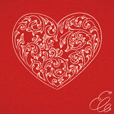 Valentine vintage background Stock Photos