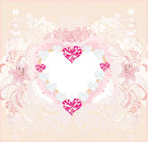 Valentine vintage heart Royalty Free Stock Image