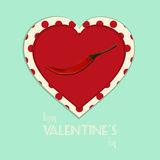 Valentine vintage spicy heart background Royalty Free Stock Photo