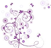 Valentine violet card Royalty Free Stock Photos