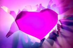 valentine violet heart Royalty Free Stock Photo
