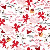 Valentine wallpaper. Seamless. Love. Romantic. Stock Photo