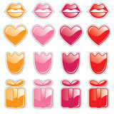 Valentine Web Buttons Royalty Free Stock Images