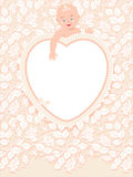 Valentine, wedding or baby card Royalty Free Stock Photos