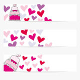 Valentine or wedding banners Royalty Free Stock Images