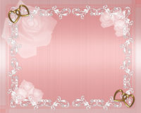 Valentine Wedding Border. 3D Illustration for Wedding Invitation, Valentine or Anniversary Background, background or frame with copy space Royalty Free Stock Photos