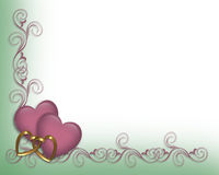 Valentine Wedding Border Lavender royalty free illustration