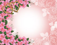 Valentine or Wedding Border Pink royalty free illustration
