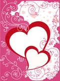 Valentine or wedding card Stock Images