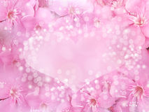 Valentine or wedding background love and heart border and frame Royalty Free Stock Photography