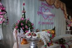 Valentine, wedding ceremony. Valentine`s wedding ceremony of Thailand Traditional Wedding Traditions The love of men and women is based on Thai culture Stock Image