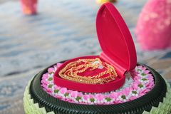 Valentine, wedding ceremony. Valentine`s wedding ceremony of Thailand Traditional Wedding Traditions The love of men and women is based on Thai culture Royalty Free Stock Images
