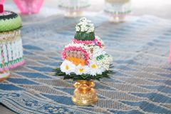 Valentine, wedding ceremony. Valentine`s wedding ceremony of Thailand Traditional Wedding Traditions The love of men and women is based on Thai culture Stock Photos