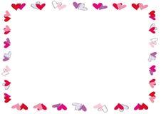 Valentine or wedding frame Stock Photos