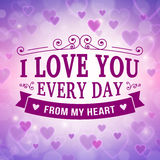 Valentine and wedding greeting card background Stock Images