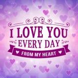 Valentine and wedding greeting card background stock illustration