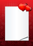 Valentine or wedding invitation Stock Photo