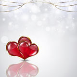 Valentine White Background Fotografie Stock