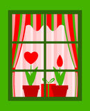 Valentine window Stock Image