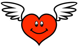 Valentine with wings (Vector) Royalty Free Stock Photography