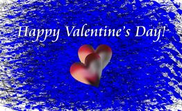 Valentine wishes on waves like background Stock Photography