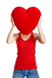 Valentine woman Stock Images