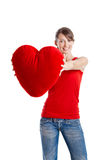 Valentine woman Royalty Free Stock Photos
