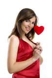 Valentine Woman Stock Photo
