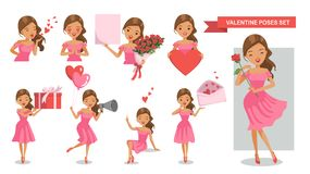 Valentine Women vector illustratie