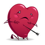 Valentine wounded heart. Stock Photo