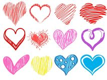 Valentine& x27; dia de s Corações Fotografia de Stock Royalty Free