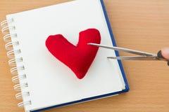 Valentine& x27 ; jour de s avec le coeur rouge Photos libres de droits