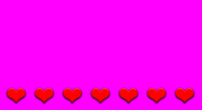 Valentine& x27;s Day background with hearts Royalty Free Stock Images