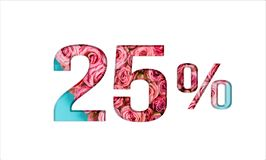 Valentine's day sale banner. Promotion of the poster sale or 25 percent discount for sale in the store