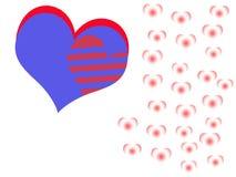 Valentine& x27; tarjeta de s Foto de archivo