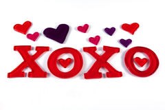 Valentine XOXO Photo libre de droits