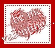 valentine życzenia Zdjęcia Royalty Free
