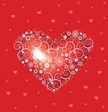 valentineheart Royaltyfria Bilder