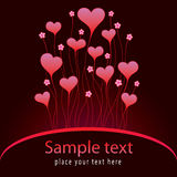 Valentinei card with hearts Royalty Free Stock Photo
