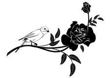Valentinel winieta z ptakiem royalty ilustracja