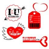 ValentineLogoSet1 Obrazy Royalty Free